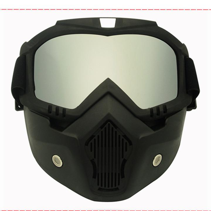 1896176d37f U-like Motorcycle Goggles with Detachable Mask and Mouth Filter Harley Style  Protect Padding Helmet