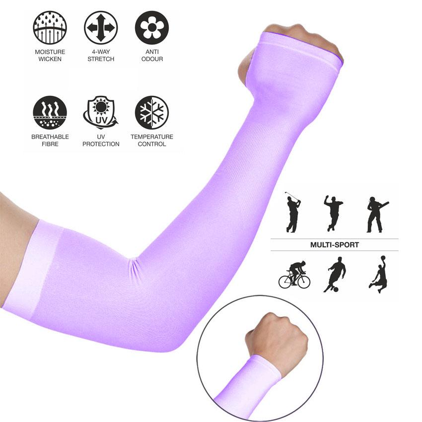 Lets Slim Cooler Fibers Anti Uv Arm Sleeves Breathable Arm Warmers Sleeves By Happy Mix.