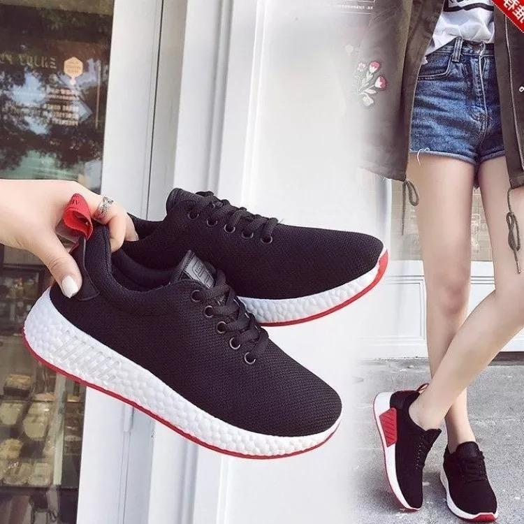 a6cc582422c689 QQS2018 summer new Korean version of the low shoes youth solid color shoes