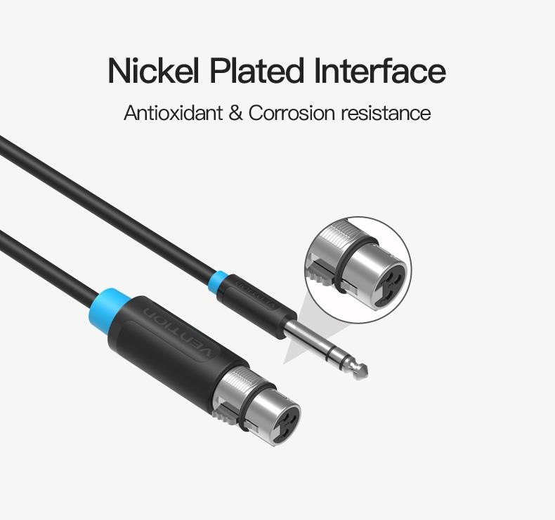 Vention Microphone Cable Wire XLR Cable Aux Cable Cannon Cable Jack 6 5mm  Male to XLR Female Cord for Mixer Stereo Amplifier (2M)