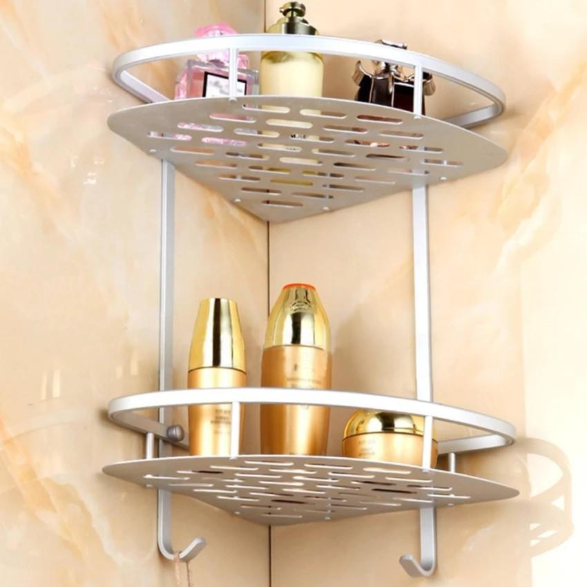 Bathroom Corner Double Layer Triangle Rack Holder Shelf Storage Organizer By Vtow Cp Gadget.