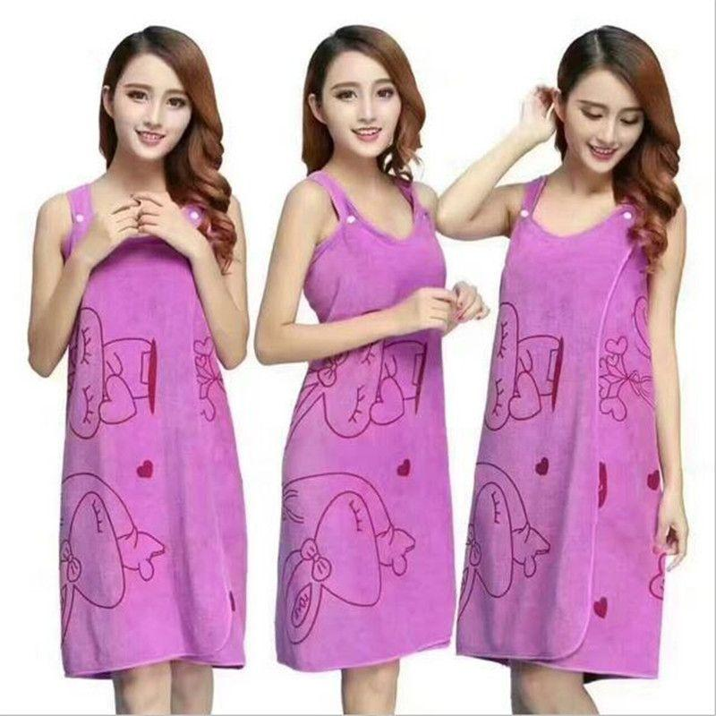 Jin-Soft Bathrobe Towel Gown Dress Towel Magic Towel for Women Cute Design  Bathrobe Skirt e9a05d6f5