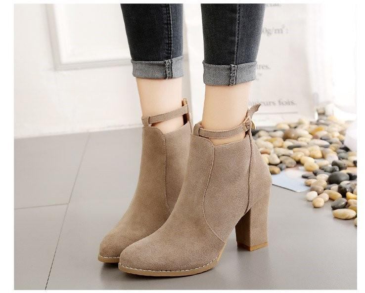 korean new high heels and ankle boots