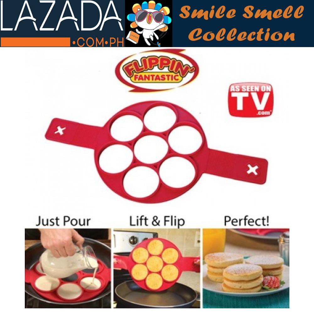 7holes Silicone Perfect Pancakes Pan Breakfast Maker Egg Flippin Fantastic By Smile Smell.