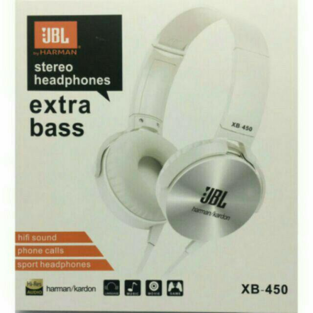 JBL Headphone Headset Extra Bass XB450 Stereo Headphone