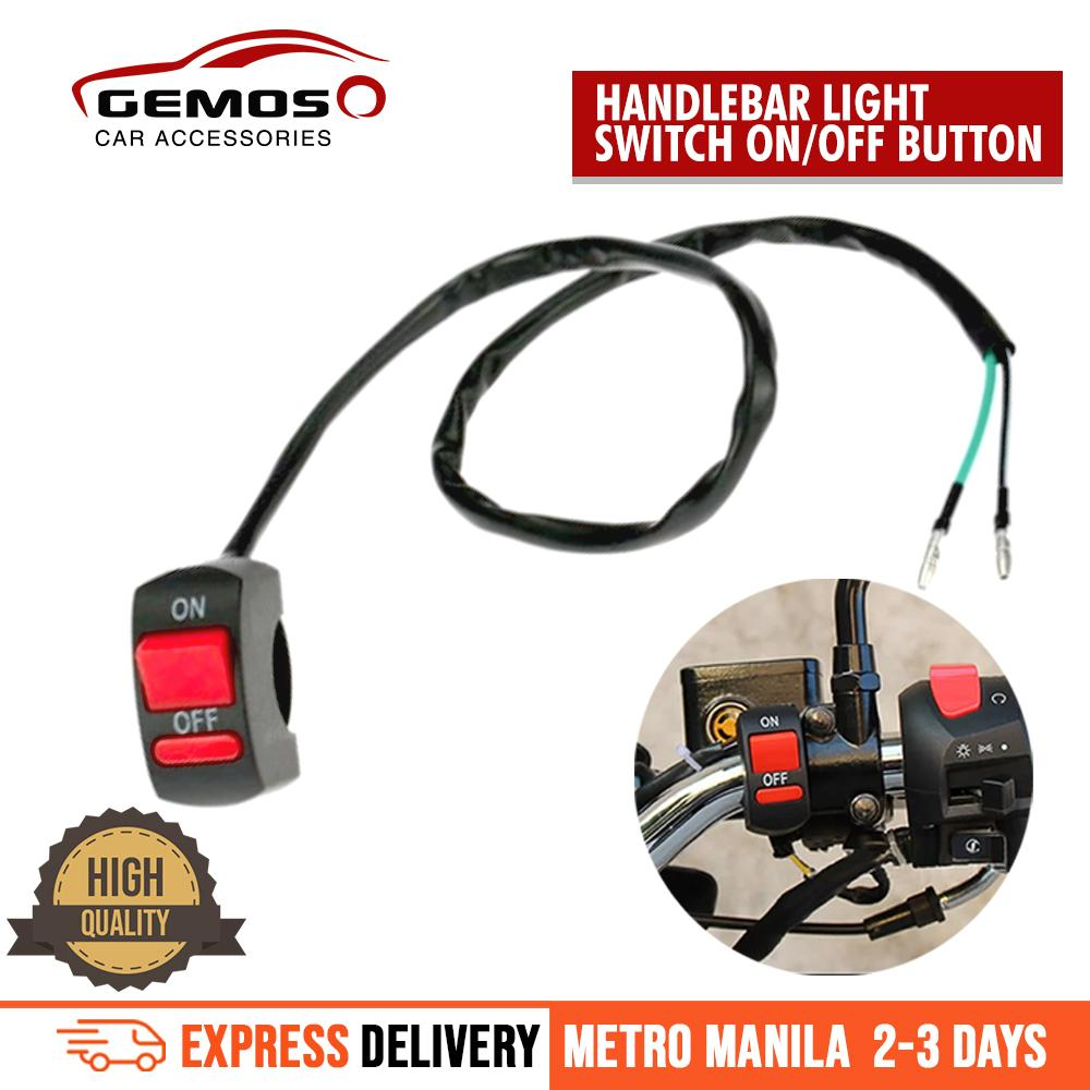 Universal Motorcycle Atv Bike Handlebar Light Switch On Off Button By Gemos Car Accessories.