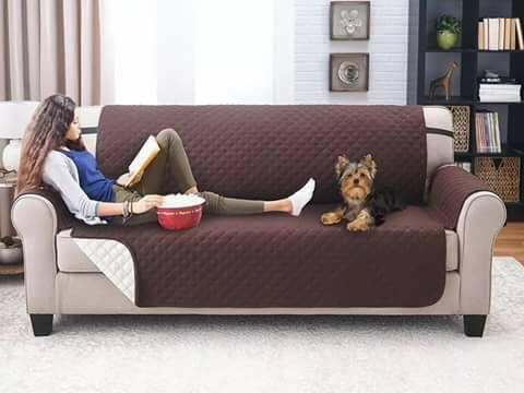 3 Seater Deluxe Quilted Cat Dog Sofa Cover Couch Slipcover Water Resistant  Settee Armchair Mat Pet