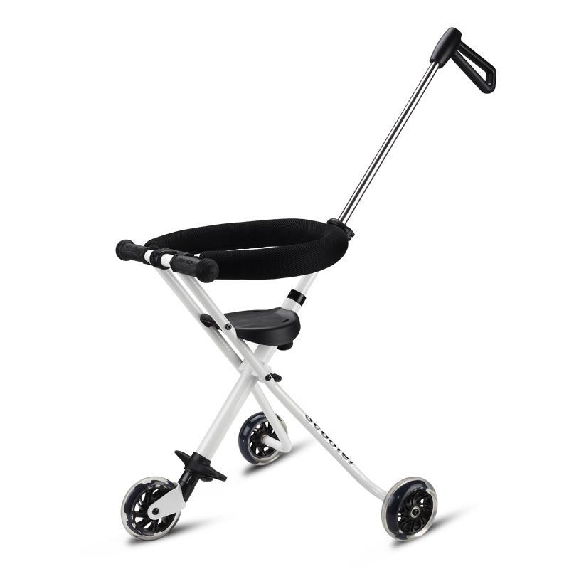 Three Wheels Stroller Five Flash Wheels Baby Umbrella Car Baby Walking Carrier Children Trolley Portable Folding Three Wheels Stroller Tricycle 1-6 Y