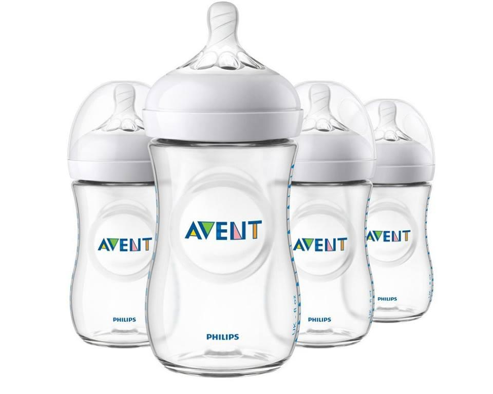Philips Avent Natural Baby Bottles, Purple, 9 Ounce, (4 Pack) By Baby&tots Wearhouse.