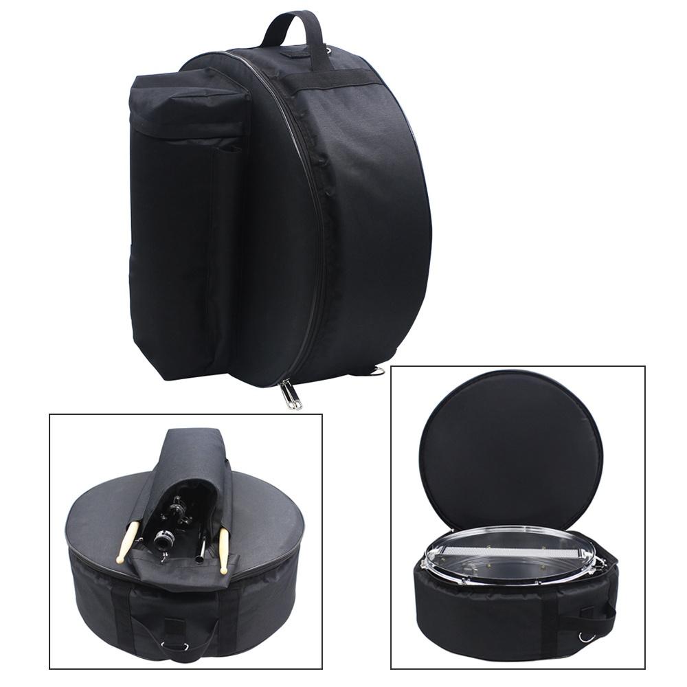 7846944e5366 Durable 14 Inch Snare Drum Bag Backpack Case with Shoulder Strap Outside  Pockets - intl