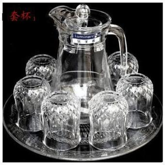 Product Luminarc Cold Water Bottles Glass Cup Set Cold Glass Heat-Resistant Household Glass Cup Set