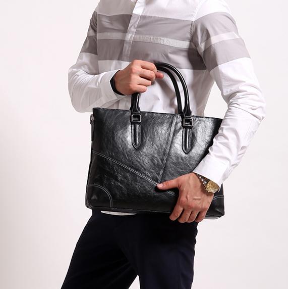 cda79b76b696 Bags Men s Real-leather bag bags Cowhide Handbag Business Briefcase Leisure  Shoulder bag bags Fashion