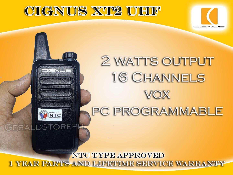 PROMO Buy 1 Take 1 New Cignus XT2 UHF 2 Watts Mini Two Way Radio 1 Year  Parts and Lifetime Service Warranty