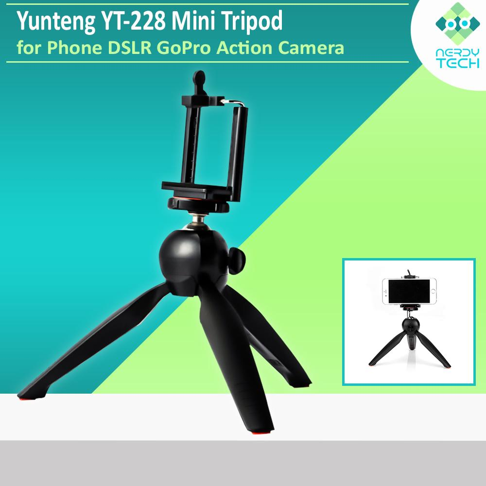 Yunteng YT-228 Mini Tripod Mount with Clip for Digital Phone GoPro Camera
