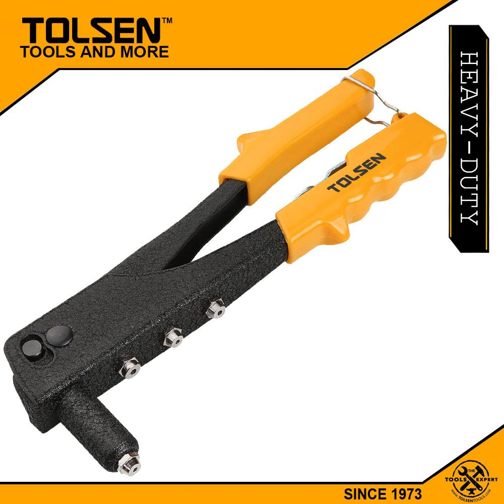 Tolsen Heavy Duty Steel Hand Riveter (10) Pvc Handle 43001 By Tolsen Tools Ph.