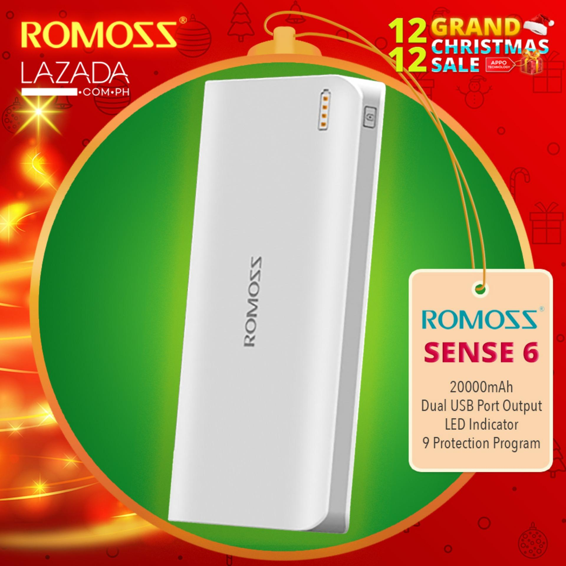 Super Li ion Power Bank Capsule Ii 22000mah Putih List Black Source · Romoss Sense 6