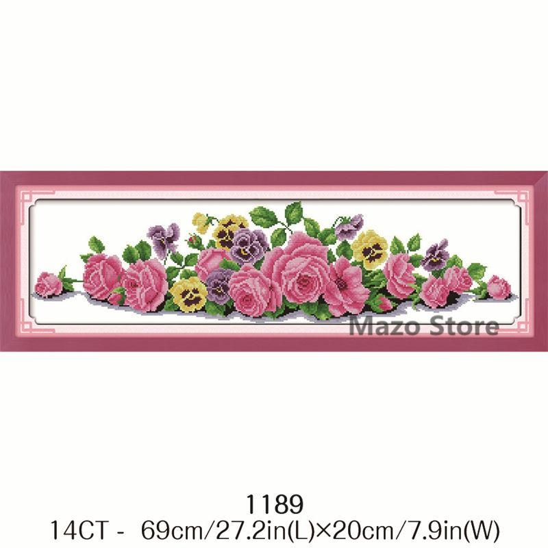 3D Floral Embroidery Practice Kits Cross Needle Flower DIY Decor for Home Room