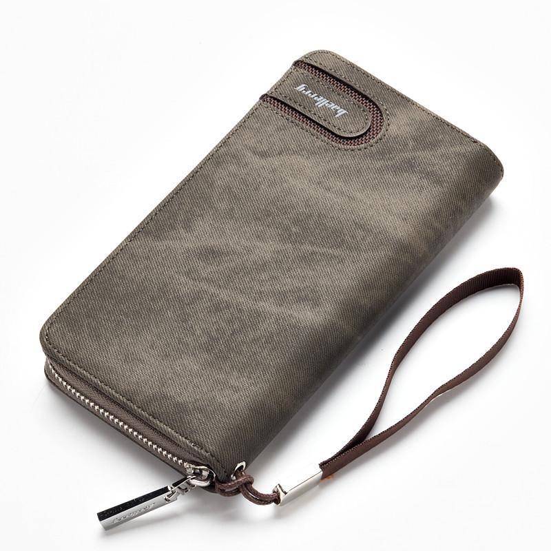 Baellerry Men PU Leather Organizer Long Wallet Money Purse Coin Pocket Pochette Male Clutch Hand Bag
