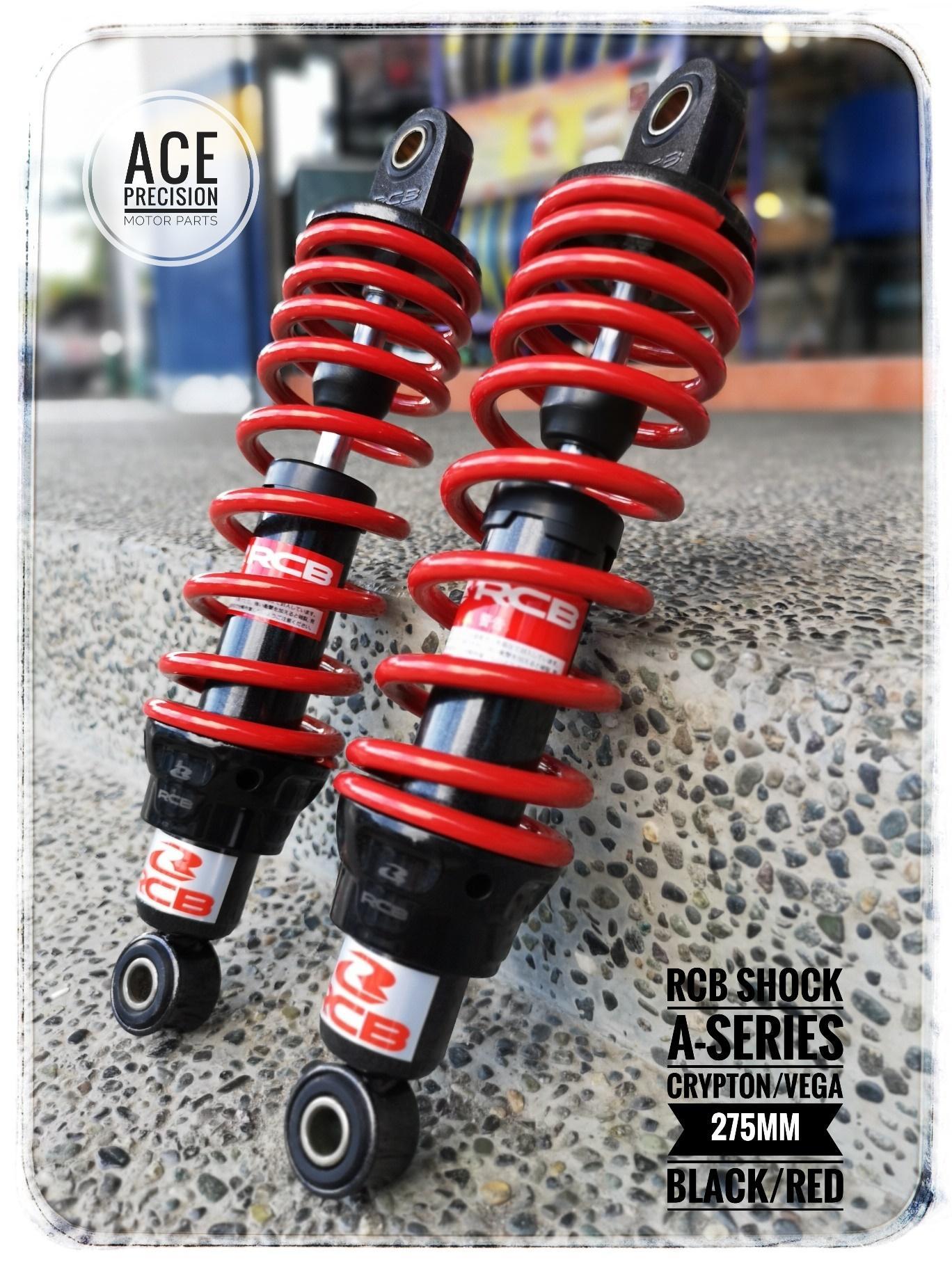 RACING BOY Dual Shock Absorber A-Series 275mm [BLACK] RED