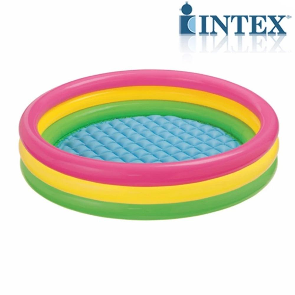 Intex 3 Ring Inflatable Outdoor Swimming Pool 66X18 168