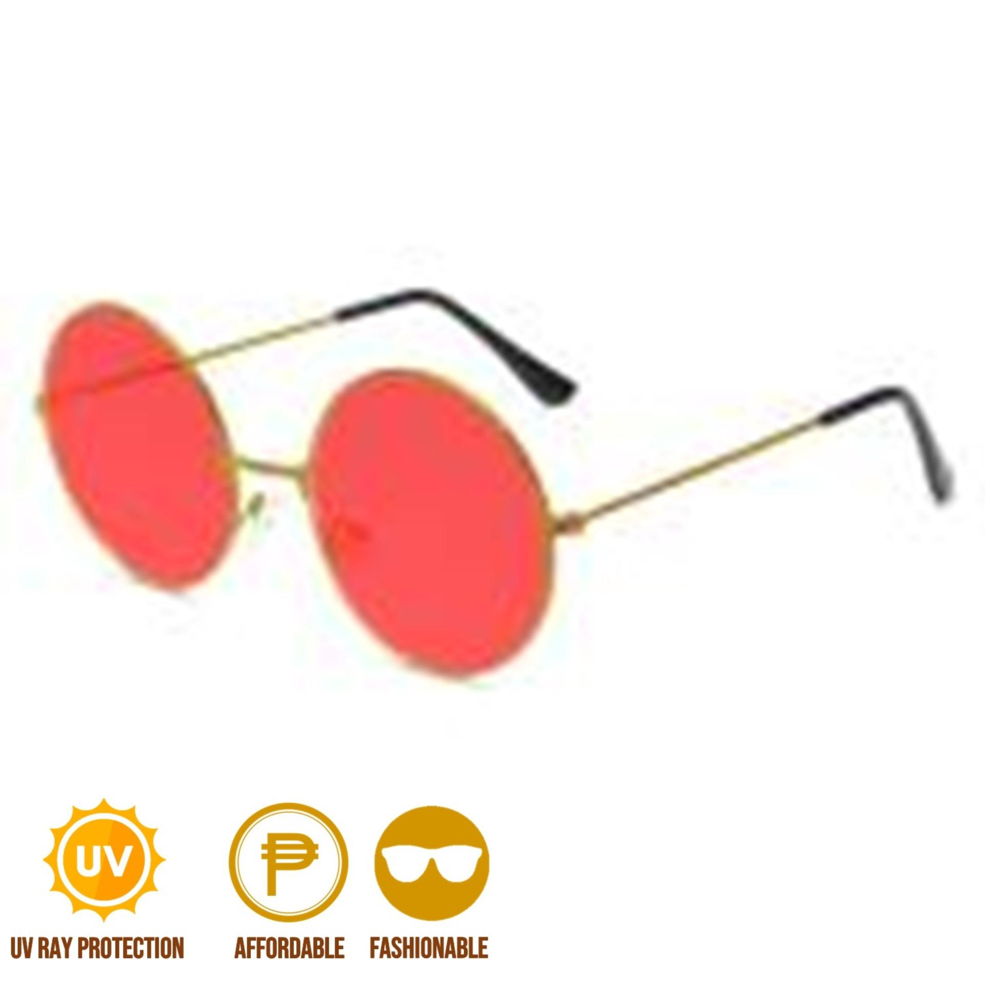 d6722d8642ac9 ANT Retro Round Circle Colored Vintage Glasses Tint Sunglasses Metal Frame  Red