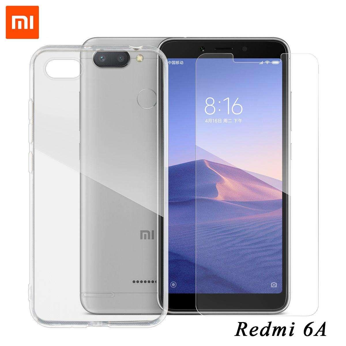 Tylex Tempered Glass 2 Pcs For Xiaomi Redmi 6A with FREE Tylex Jelly Case For Xiaomi