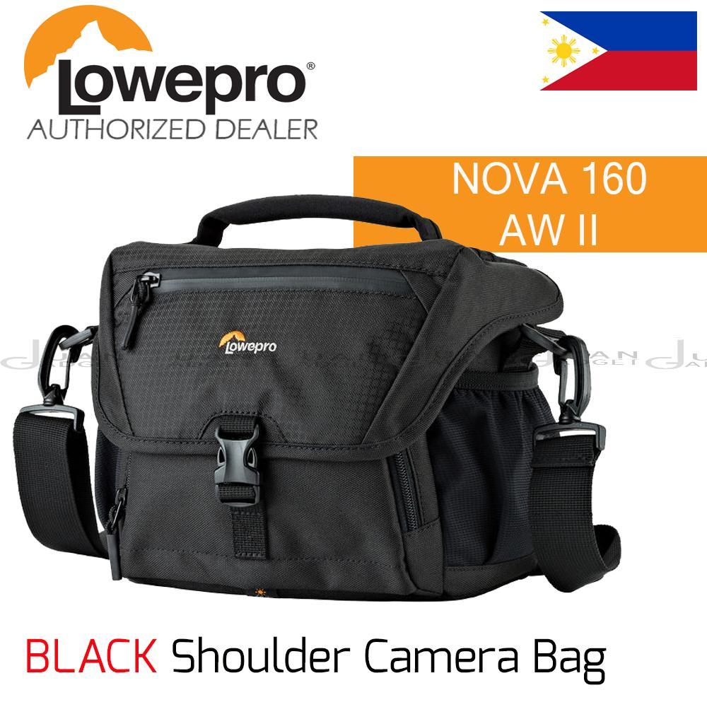 Lowepro Cameras Philippines Dslr Digital Camera Lens Video Pack 250aw Nova 160 Aw Ii Shoulder Bag Black