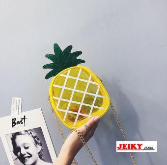 JY. Ladies Korea Trendy Pineapple Transparent Sling Bag