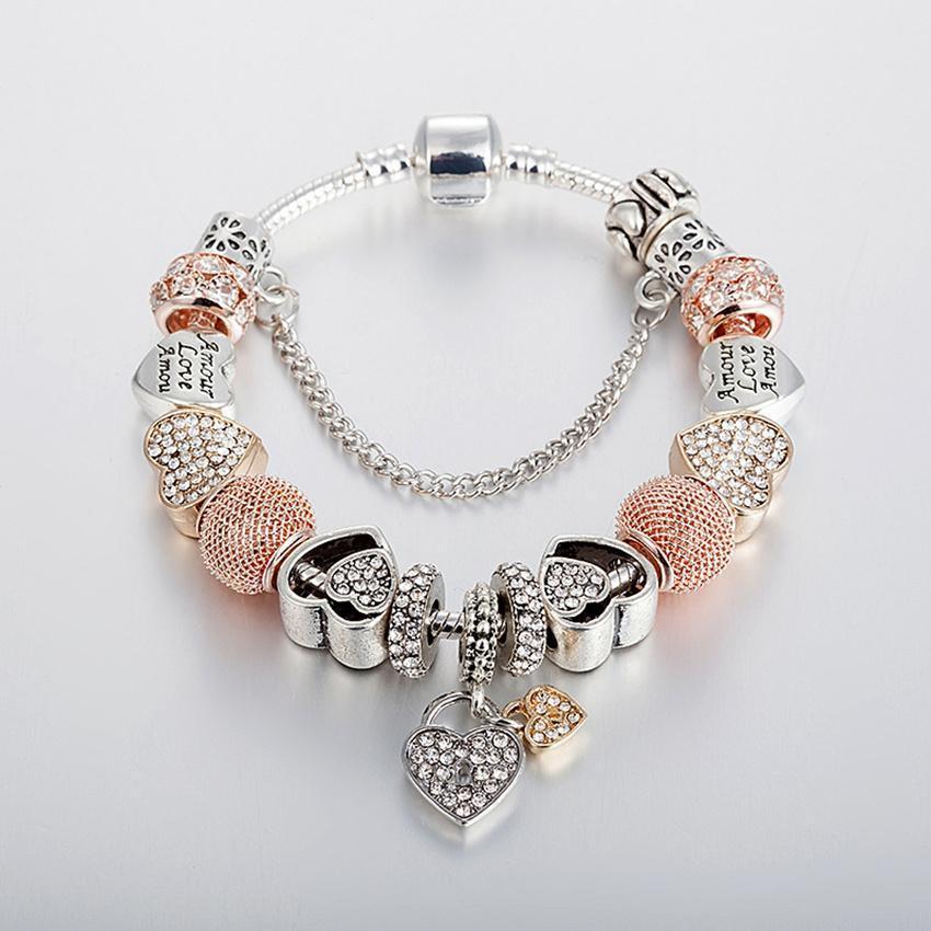 74a56cf5b ... inexpensive jc 925 silver charm bracelet crystal bracelet b17124 0a5d5  2b452