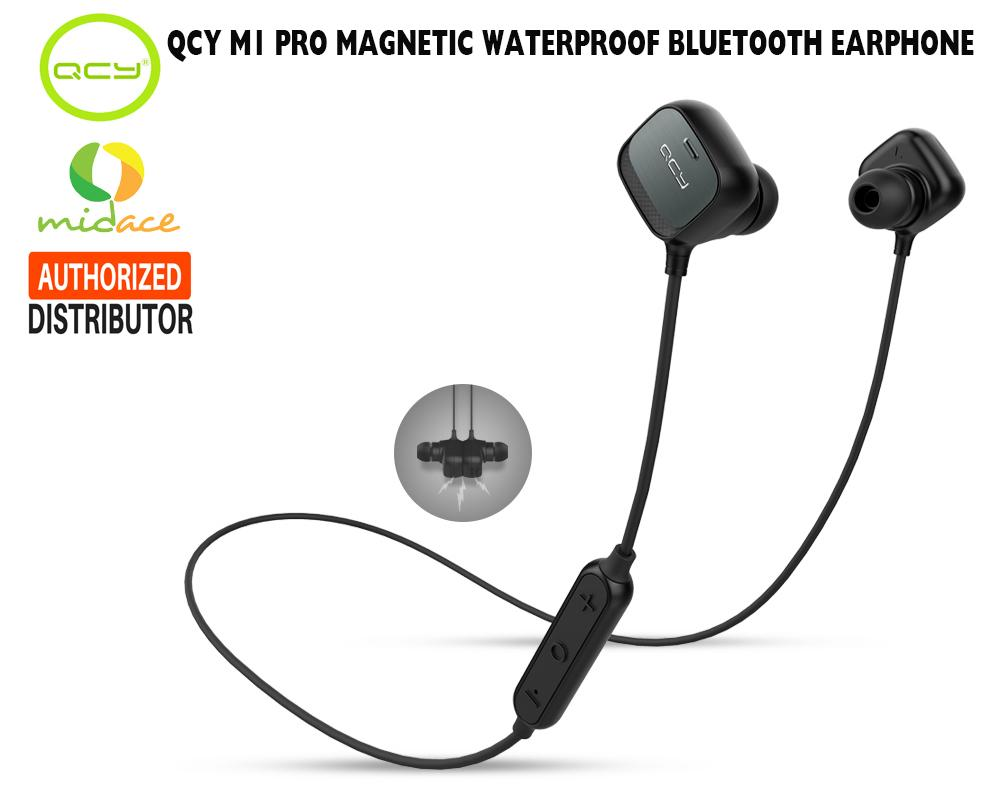 New Original QCY M1 Pro English Waterproof Magnetic Sports Wireless  Bluetooth Earphones Black 484e073094