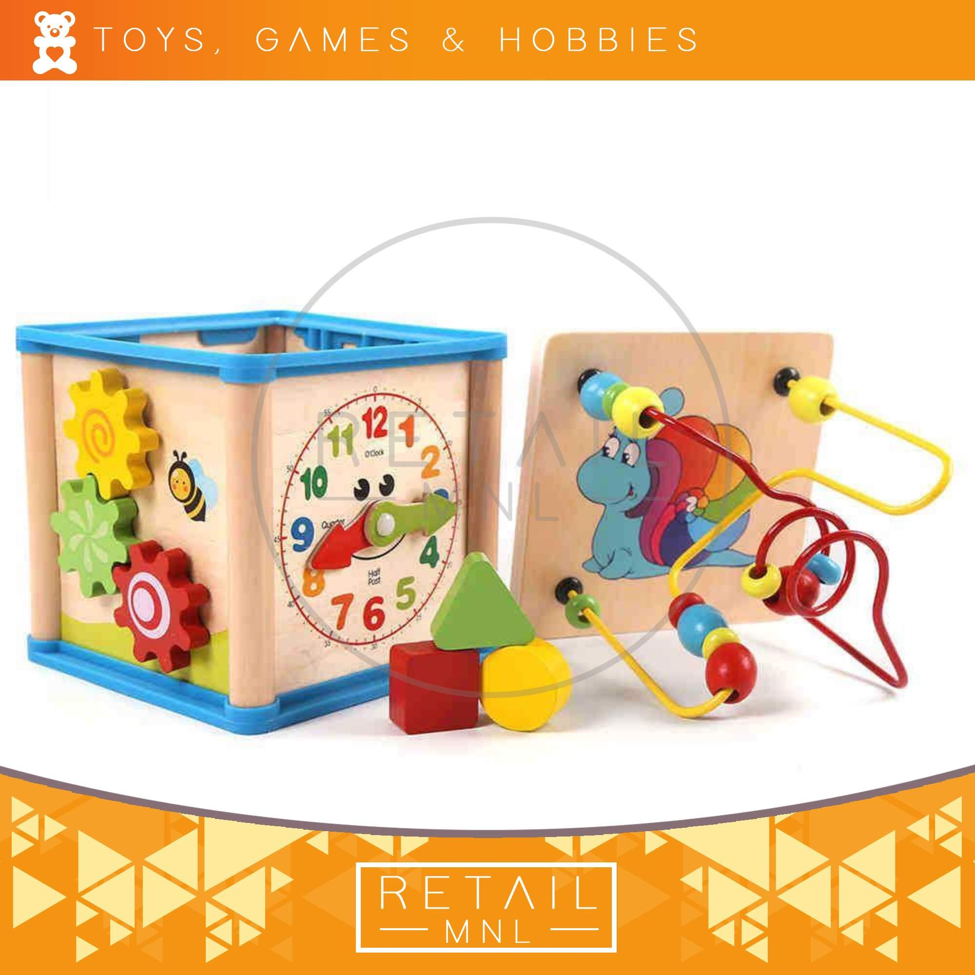 3bd6874e8a61 Retailmnl Multi-functional Beads Shape Clock Cube Educational Toy for Kids