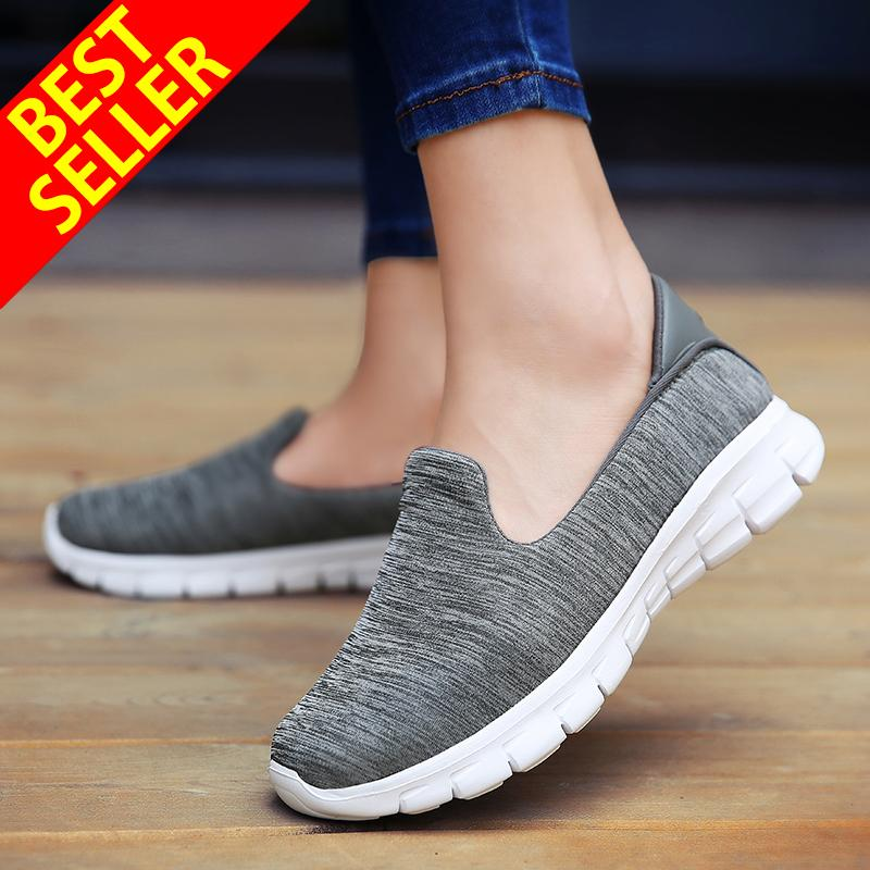 6d2f5efcd4 QINGSHUI Women Casual Shoes Lightweight Flats Shoes Women Running Shoes  Comfortable Walking Sneaker Female Slip-
