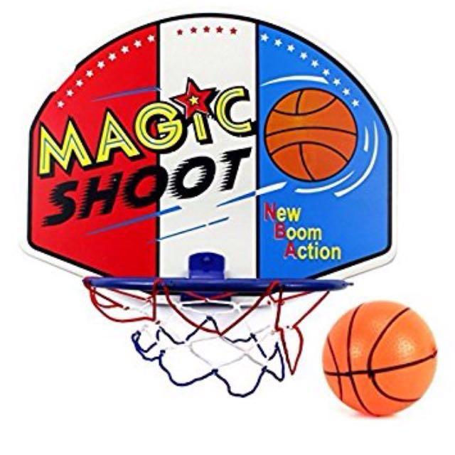 Magic Shoot Games Mini Basketball Net Toy Hoop Ring With Ball Kids Love Cool Shoot Toys 242g By Phsupermall.