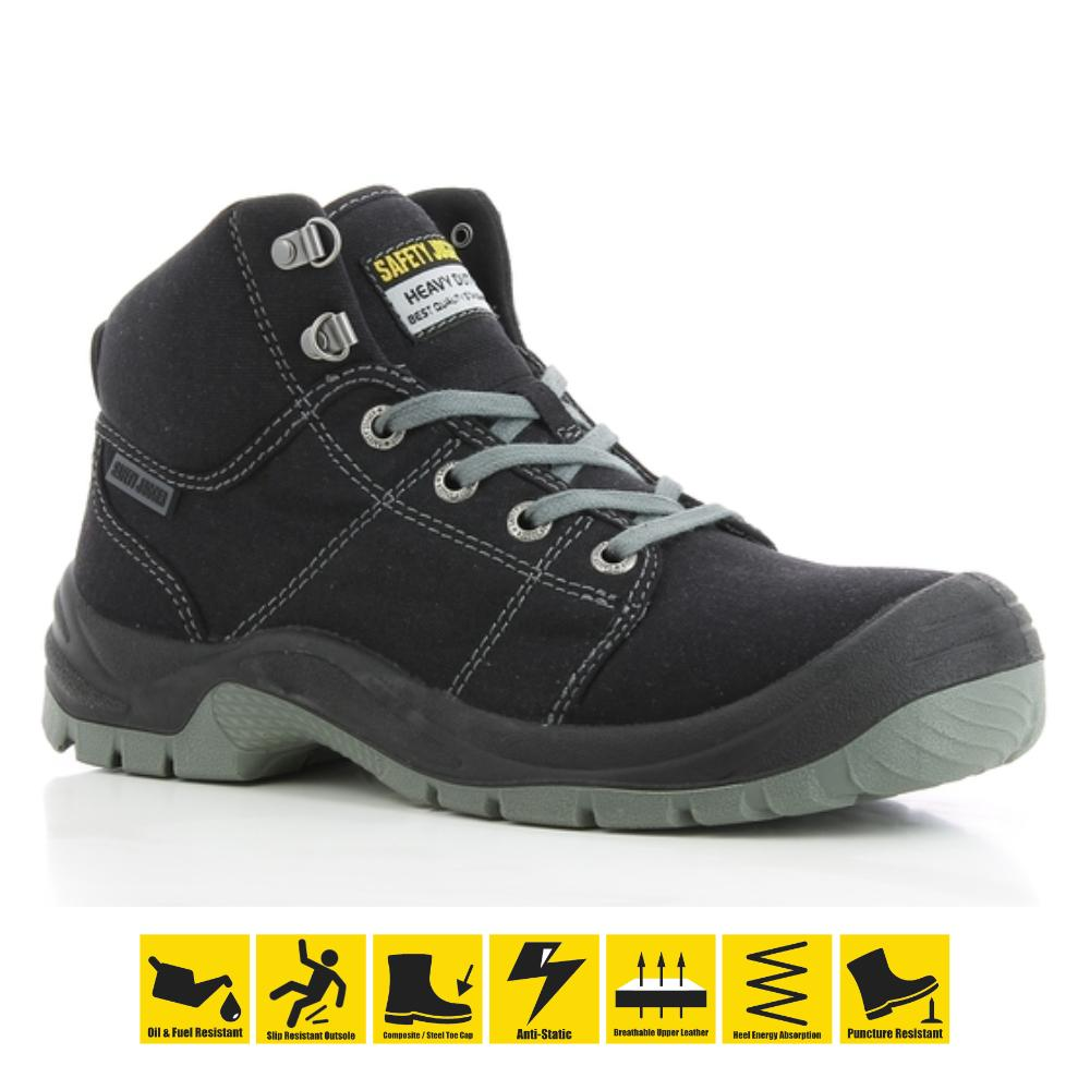 0171315ee6 Safety Jogger Desert S1P High Cut Safety Shoes Work Boot Footwear Steel Toe  Shoe Oil Resist anti-slip ( Black )