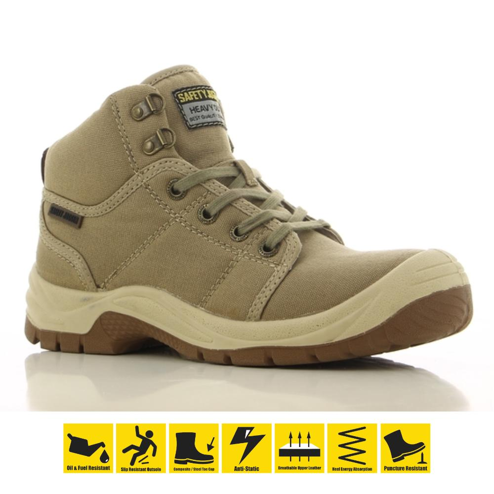 dbbc243282 Safety Jogger Desert S1P High Cut Safety Shoes Work Boot Footwear Steel Toe  Oil Resist Anti