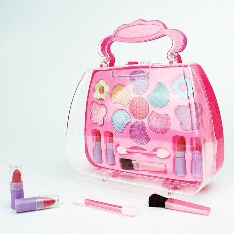 b3f3a4919a5c Fancyqube New Pretend Play Girls Cosmetics Kit Toys Makeup Set Preschool  Kid Beauty Toy Environmental Safety Toy For Kids Makeup Toys