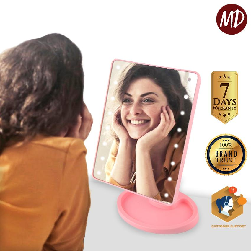 MD Large LED Mirror Makeup Mirror Professional Vanity Mirror With Lights 360 Degree Rotating LED Large Makeup Mirror - (XR-1608) Philippines