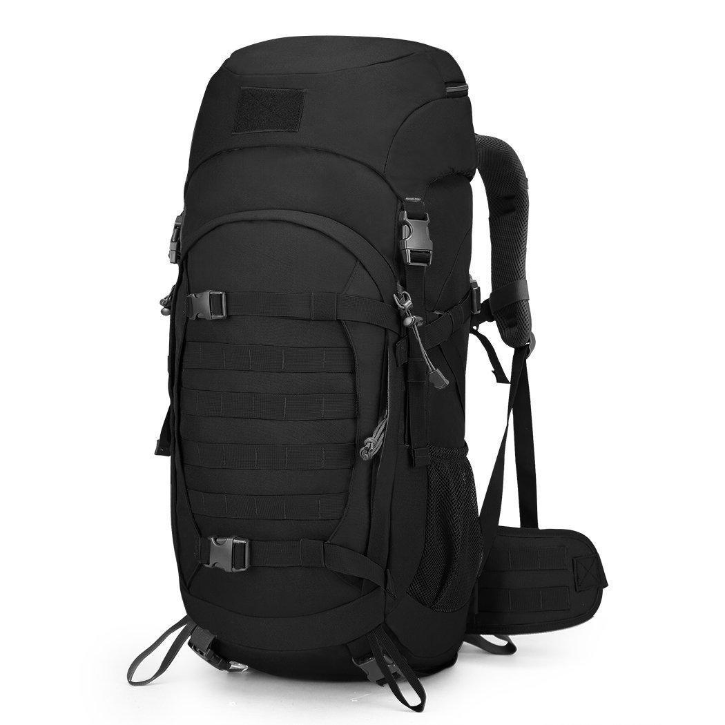 Mountaintop 50l Internal Frame Tactical Backpack 600d Polyester Military Molle Bag With Rain Cover For Hunting Hiking Travel By Outdoor Packs Accessories Store.