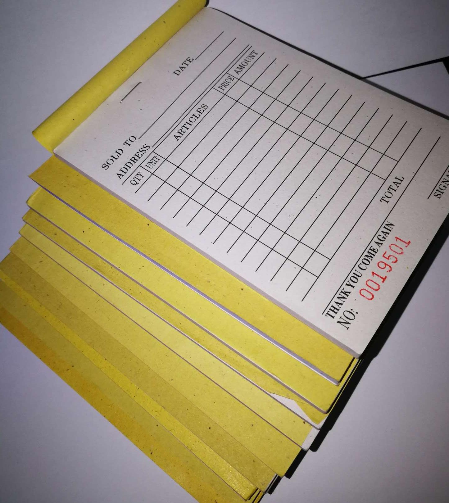 Carbonized Receipt 10pads By Lucky One Merchandise.