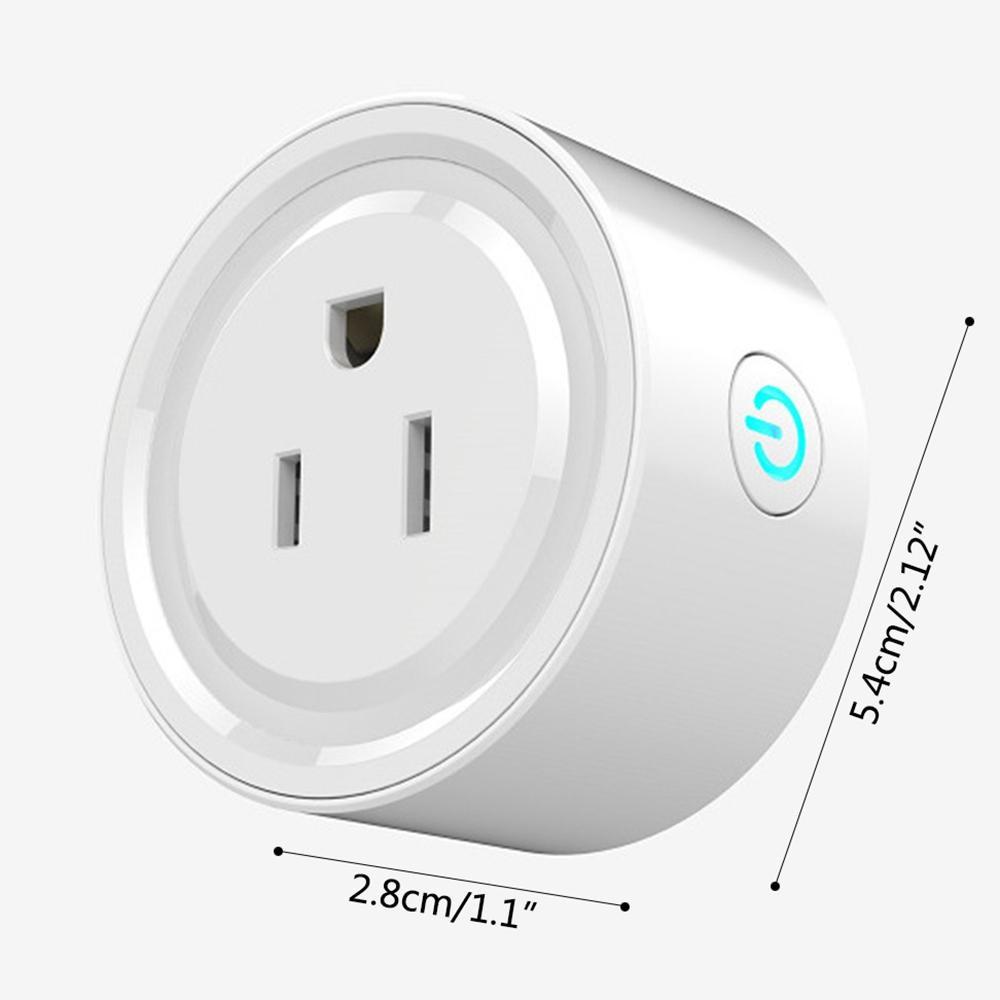 niceEshop (US Plug)WIFI Smart Plug Mini Remote Control Intelligent Socket  Work With Amazon Alexa No Hub Required Home Timing Function Switch Plug (2