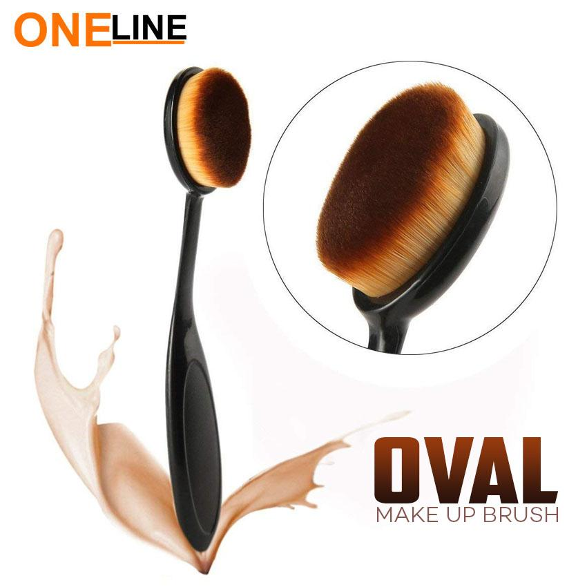 Oneline Oval Beauty Cosmetic Liquid Foundation Cream Makeup Brush Tool Philippines