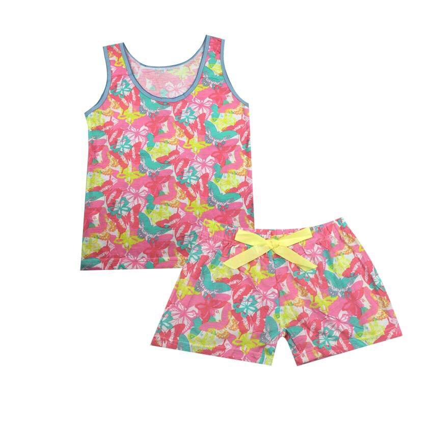 Girls Suit (vest And Shorts), Kids Pajama Set By Beashop.