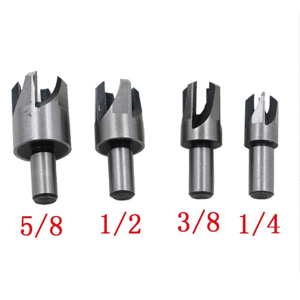 13mm Carbon Steel Wood Plug Hole Standard Round Cutter Drill Bit 9.5MM Shank