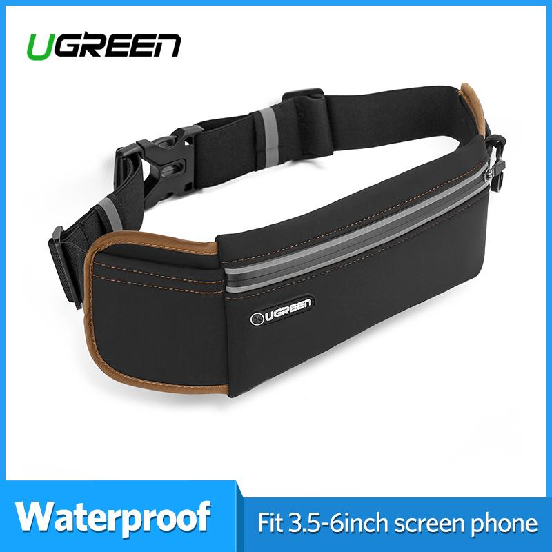 36c56bdefda8 UGREEN Waterproof Adjustable Nylon Lycra Belt Jogging Belt Running Waist Bag  Sport Bags for Sports Camping