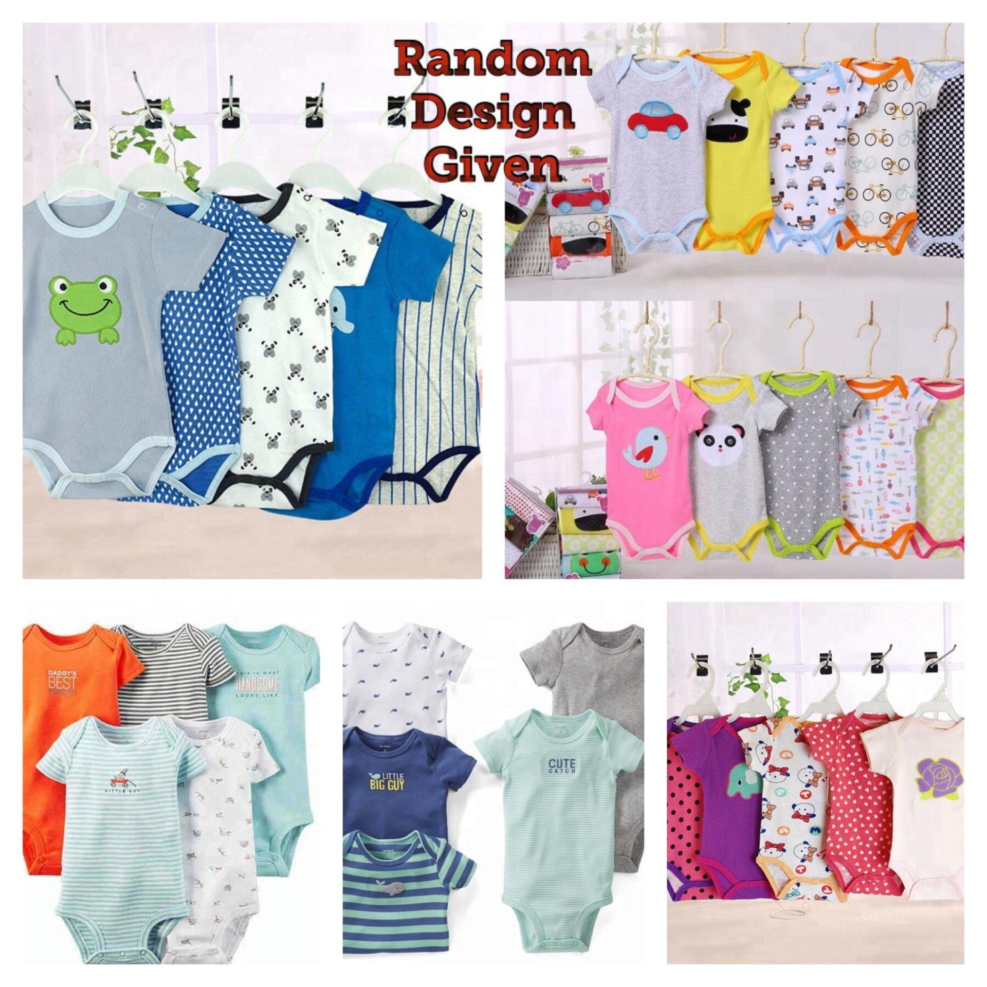 1a8664ce34 5 pcs Merdane Baby Romper Onesies Set - Babies Clothes Girls and Boys Short  Sleeve Onesie