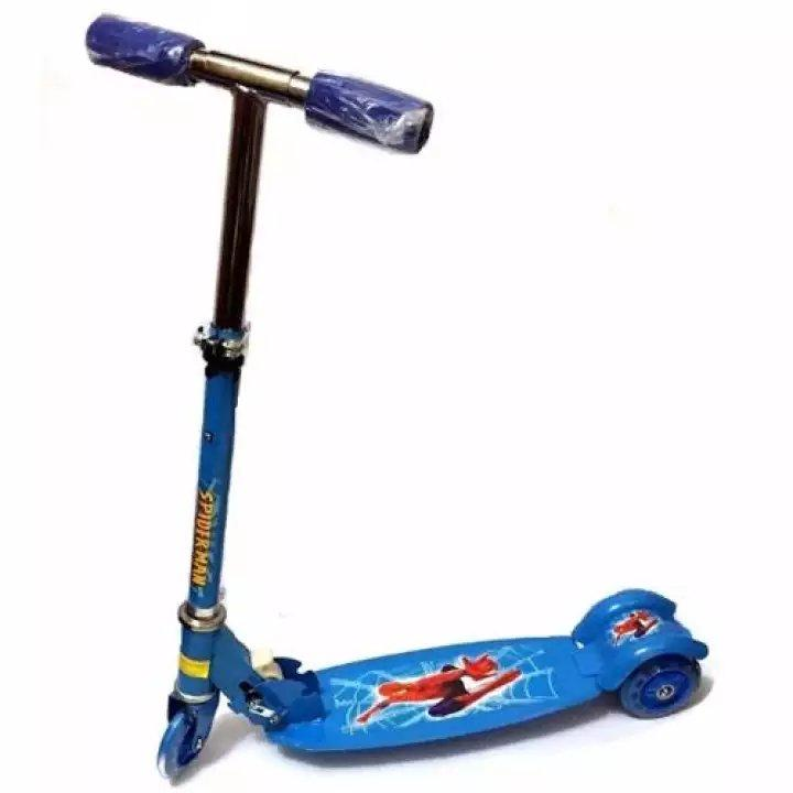 Quality Ride-On Push Scooter For Kids With Laser Wheel (blue) By Lazest Shopping.