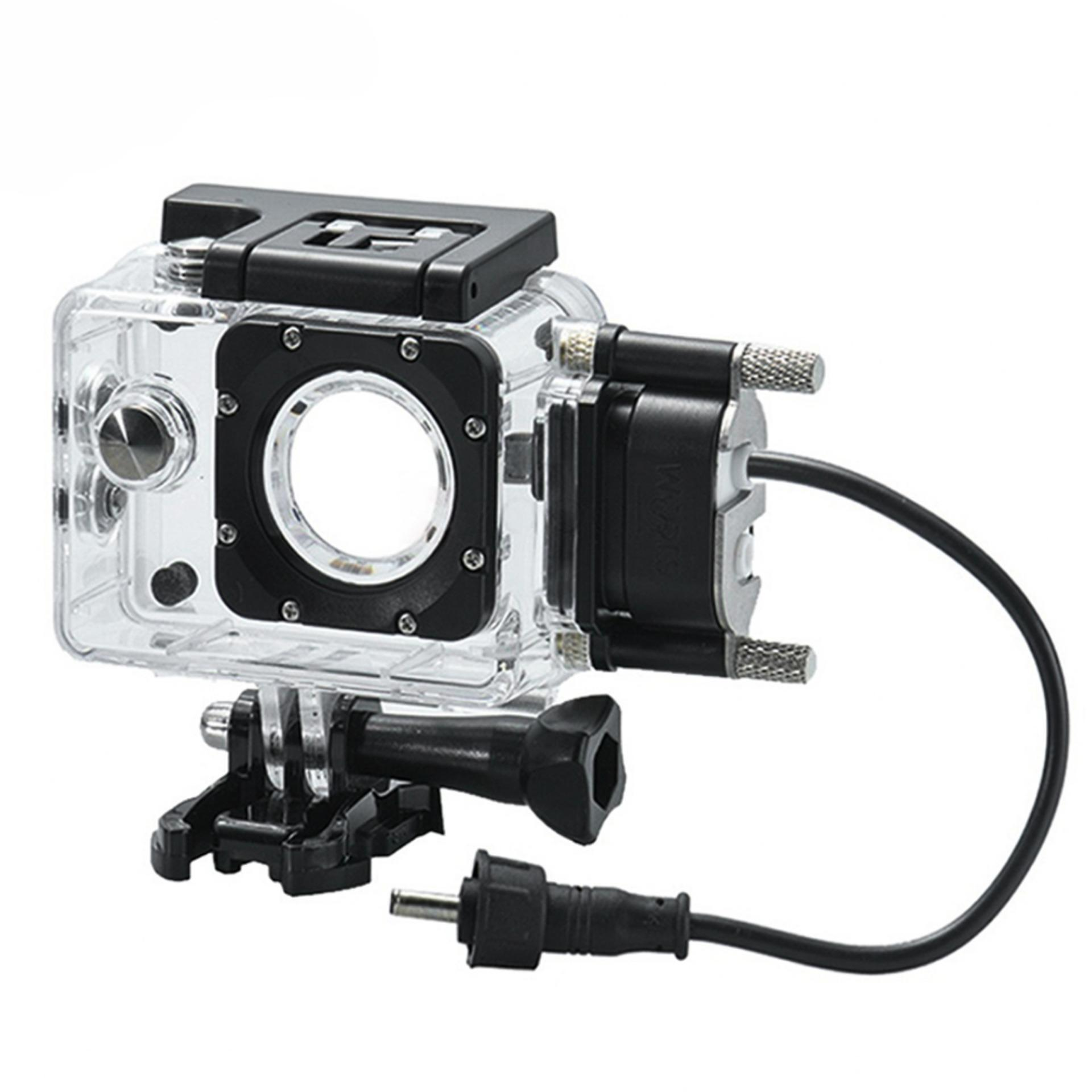 Sjcam Sj4000 Series Waterproof Case And Car Charger For Motorcycle By Sjcam