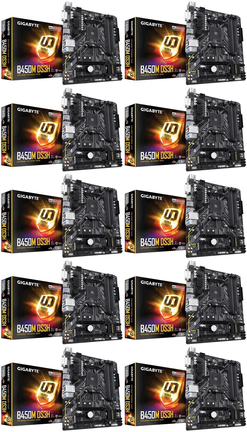 GIGABYTE B450M DS3H DDR4/AMD Ryzen AM4/B450/Micro ATX MOTHERBOARD