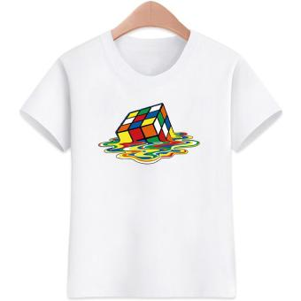 3 to 16 yrs. old Rubiks Cubes Design for Boys Kids T-Shirts Cotton Short Sleeve Kids Tops Tee Kids T-Shirts