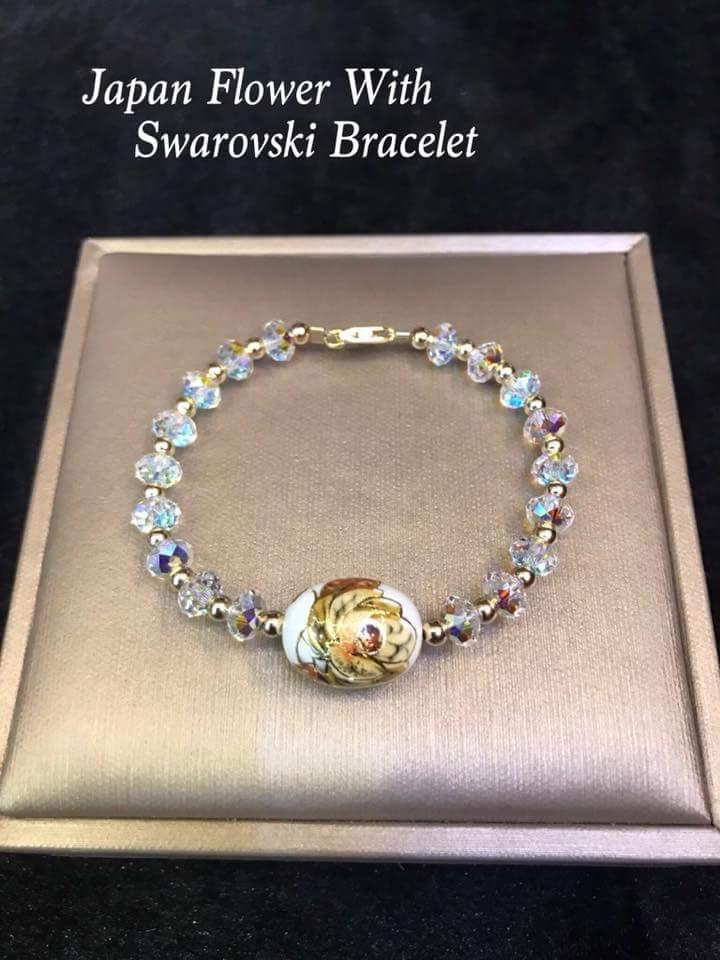 Authentic Swarovski and Japan Flower Bracelet